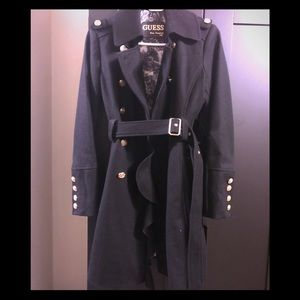 Guess Military Style Pea Coat